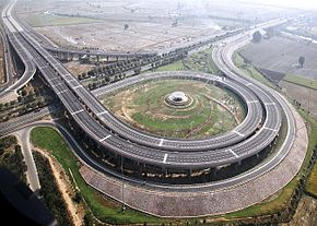 Fig: Aerial view of Yamuna Expressway